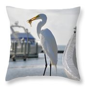 Piggy Perch For Breakfast Throw Pillow