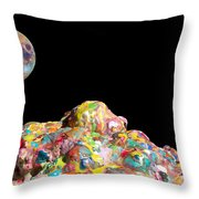 Pile Of Color In Space Two K O Four Throw Pillow