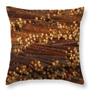 Pile Of Logs, Peeled And Ready Throw Pillow