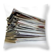 Pile Of Magazines Throw Pillow