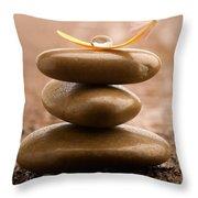 Pile Of Massage Stones Throw Pillow