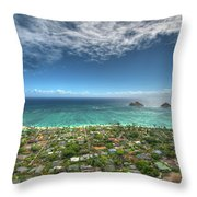 Pillbox View Of Mokulas Throw Pillow