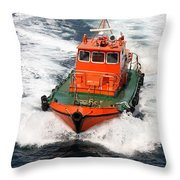 Pilot Boat - Dardanelles-canakkale Throw Pillow