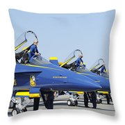 Pilots Of The Blue Angels Flight Throw Pillow