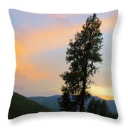 Pine And A Painted Sky Throw Pillow