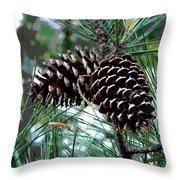 Pine Cone 2 Throw Pillow