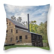 Pine Creek Grist Mill At Fall Throw Pillow