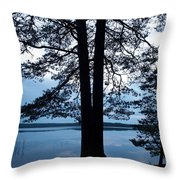 Pine Silhuette Throw Pillow
