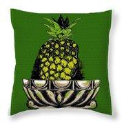 Pineapple Study  Throw Pillow