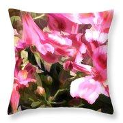 Pink Alstroemeria  Throw Pillow