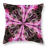 Pink And Purple Gemstones Jewelry Kaleidoscope Throw Pillow