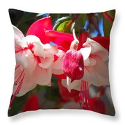 Pink And Red Fuchsia Throw Pillow