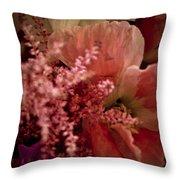 Pink Arrangement Throw Pillow