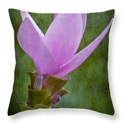 Pink Blossom Throw Pillow by Susan Candelario