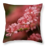Pink Blossoms Throw Pillow