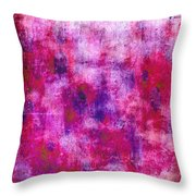 Pink Blueberries Throw Pillow