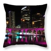 Pink Bridge Throw Pillow