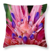 Pink Burst Throw Pillow