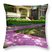 Pink Carpet Throw Pillow
