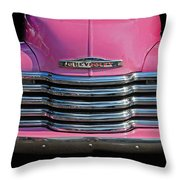 Pink Chevrolet Truck Throw Pillow