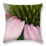 Pink Cone Flower Throw Pillow