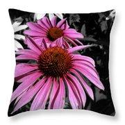 Pink Cutout Throw Pillow