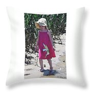 Pink Dress Throw Pillow