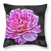 Pink Flame Throw Pillow