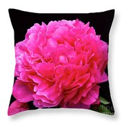 Pink Flower After Rain Throw Pillow