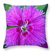 Pink Flower Miss You Throw Pillow