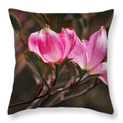 Pink Flower Tree Blossoms No. 247 Throw Pillow