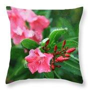 Coastal Flowers Throw Pillow