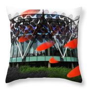 Pink Floyd Park Throw Pillow