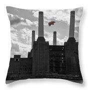 Pink Floyd Pig At Battersea Throw Pillow