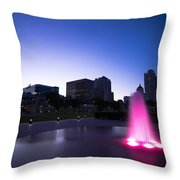 Pink Fountain Throw Pillow