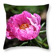 Pink Freckles Throw Pillow