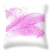 Pink Ghost Throw Pillow