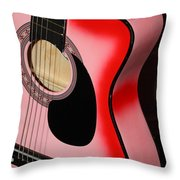 Pink Guitar Throw Pillow