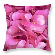 Pink Hydrangeas Throw Pillow