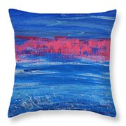 Pink In Sky Over Whitecaps Throw Pillow