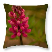 Pink Lupine Throw Pillow
