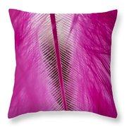 Pink Marabou Macro Throw Pillow