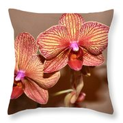 Pink Orchid2 Throw Pillow