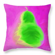 Pink Pearspective Throw Pillow