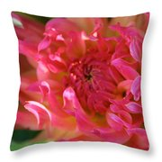 Pink Petal Flames Throw Pillow