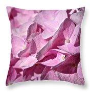 Pink Petal Pushing Throw Pillow