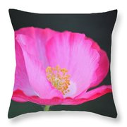 Pink Poppy 3 Throw Pillow