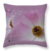 Pink Prickly Poppy Throw Pillow