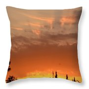 Pink Rays And Orange Skies Throw Pillow