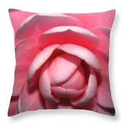 Pink Rhodendrum Throw Pillow